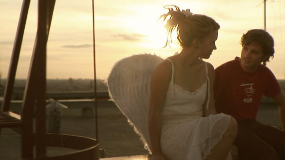 Auf dem Dach mit einem Engel :) (Szene aus '13 Stufen')